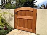 signature wooden garden gate traditional home fencing and gates