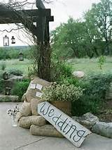 rustic altar | Wedding Ideas - Garden Theme | Pinterest