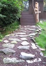 16 top crushed granite walkway