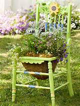 creative chair planters for home garden home design and interior