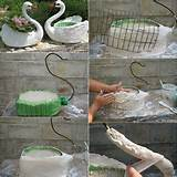 diy swan planter idea home design garden architecture blog