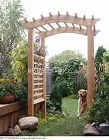 backyard trellis outdoor spaces pinterest