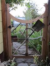 Garden Gate With Repurposed Garden Tools Garden Ideas