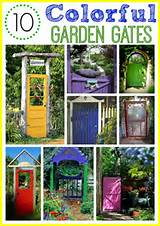 easy to add a pop of color to your garden with a colorful garden gate ...