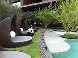 of landscaping of Hotel Hilton in Pattaya, Thailand. This landscaping ...