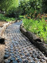 bottle path garden landscape pinterest
