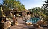 Blue Water Pool Of Parched Desert Landscaping Ideas