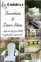 DIY outdoor furniture and decor ideas. Spruce up your deck or patio ...
