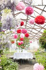 Paper pom pom decoration Balcony Gardener