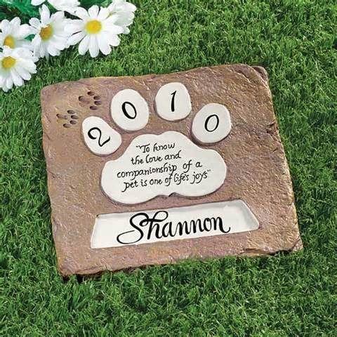 Pet Memorial Stepping Stone Personalized