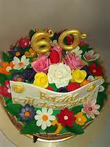 Flower Garden Themes Flower Garden Cake