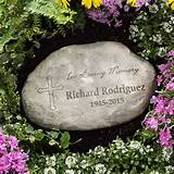 8231 - In Loving Memory Personalized Garden Stone - Title 1
