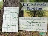 super cute diy hand painted pallet signs for the garden photo