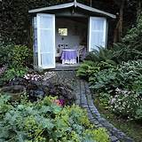 garden with shed landscape design decorating ideas housetohome