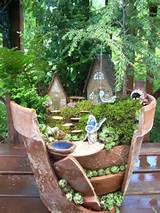 fairy gardens in broken terra cotta pots diy