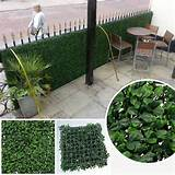 decorative garden fence artificial boxwood panel outdoor ivy privacy