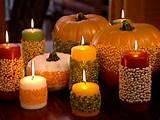 como decorar centros de mesas con velas