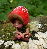 Tiny Woodland Mushroom Fairy by Celia Anne Harris OOAK - Made to Order