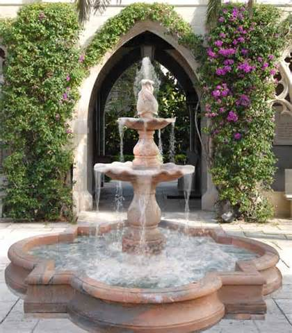 water fountains for beautiful garden front yard and backyard designs