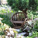 garden ideas benches garden vine fairy houses twig bench fairies