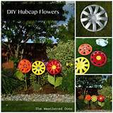 DIY Hubcap Flower Garden Art - Do-It-Yourself Fun Ideas