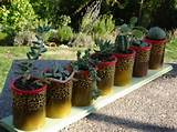 tin can craft ideas garden table centerpiece cactus decor