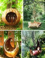 whimsical garden swings