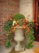 fall urn garden landscape ideas pinterest