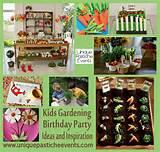 kids gardening birthday party ideas