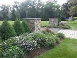 Ridgefield, CT entrance garden