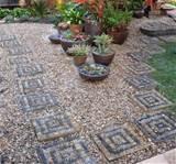 ... Unique Backyard Landscaping Ideas and Garden Path Designs with Pebbles