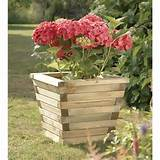 ft chunky wooden garden planter pot westmount living