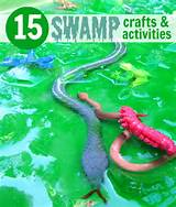 slimy are a few ways to describe these swamp craft and activity ideas