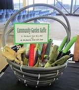fill hose with gardening goodies and raffle it for a good cause