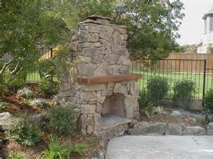 Outdoor Fireplace Designs for Warmer Open-air Rustic Stone Outdoor ...