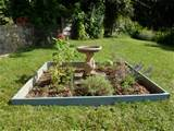 diy herb garden add edging