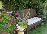 And finally, a cozy get away with a few plants and an outdoor sofa ...