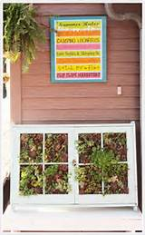 ... Dream - vertical succulent garden from old windows - via Remodelaholic