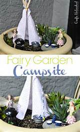 even fairies like to vacation campsite fairy garden ideas