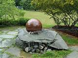rotating stone sphere,water fountain ball - rotating sphere - spinning ...