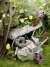 Primitive Garden Tools & Cart... | Gardening/Outdoor Ideas | Pinterest