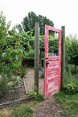 what a cool idea for a garden gate permaculture pinterest