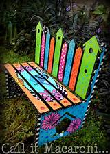 Park Benches, Garden Benches, Kids Garden, Bench Bird, Bench Children ...
