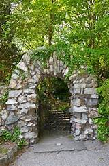 stone gate garden ideas pinterest