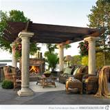 15 Designs of Pergolas to Shade Seating Areas | Home Design Lover