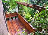 ideas decks outdoor patio pergola photo garden planter boxes