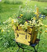 Old Milk Crate | out door ideas | Pinterest