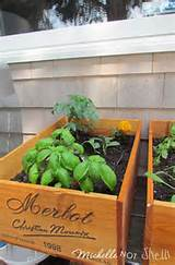 DIY Deck / herb garden using wine boxes | DIY Ideas | Pinterest
