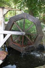 Small Ponds and Fountains: Water Wheel: Custom Ponds and Fountains