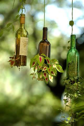 DIY Wine Bottle Hanging Planters » Curbly | DIY Design Community
